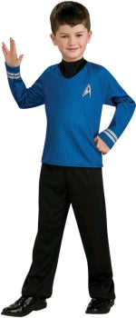 STAR TREK COSTUME BLUE SHIRT, CHILD - SIZE L