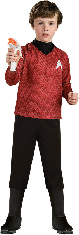 STAR TREK DELUXE RED SHIRT CHILD - SIZE M