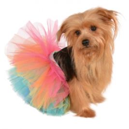 RAINBOW PET TUTU - SIZE ML