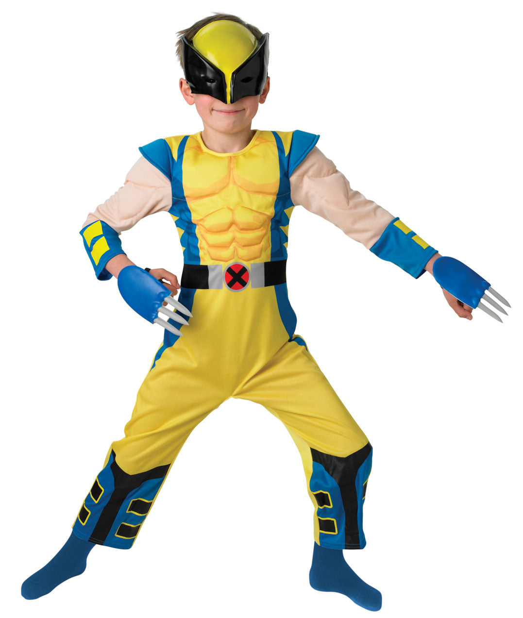 WOLVERINE DELUXE CHILD COSTUME - SIZE L