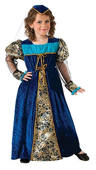 BLUE CAMELOT PRINCESS COSTUME, CHILD - SIZE S