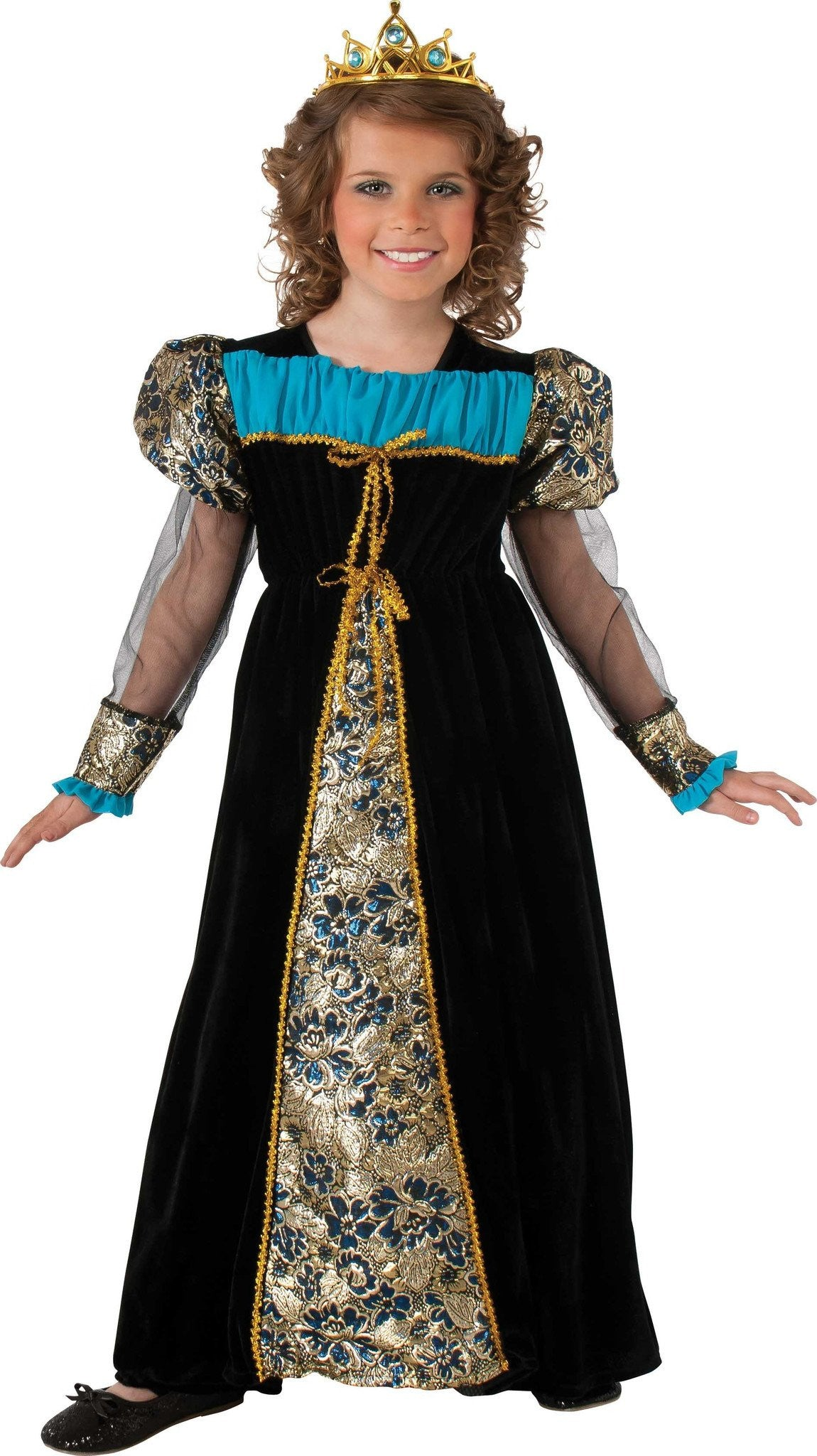 BLACK CAMELOT PRINCESS COSTUME, CHILD - VARIOUS SIZES