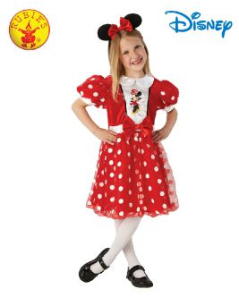 MINNIE MOUSE RED GLITZ COSTUME, CHILD - SIZE 4-6
