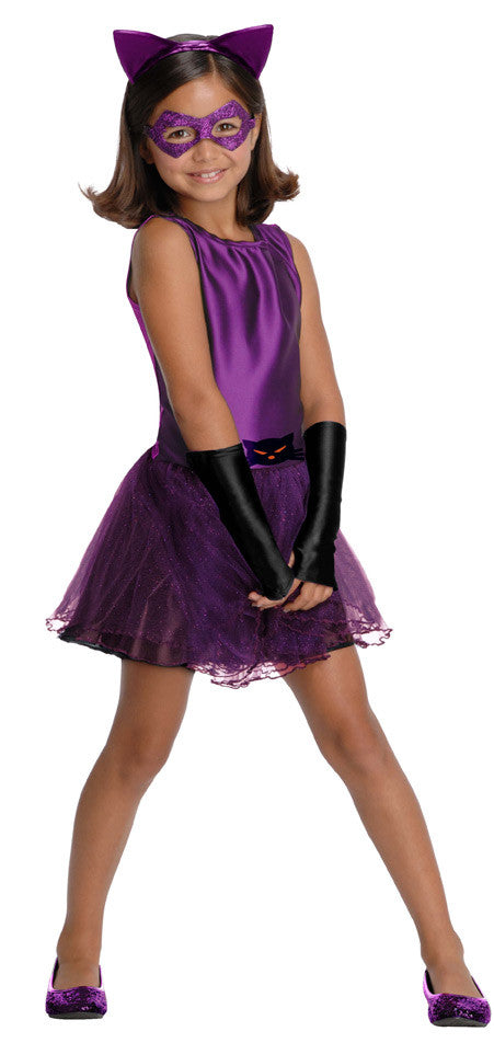 CATWOMAN PURPLE TUTU COSTUME, CHILD - SIZE S