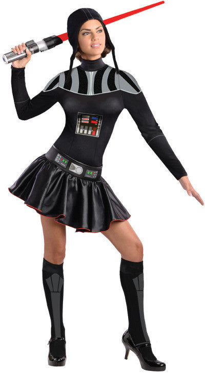 DARTH VADER FEMALE COSTUME, ADULT - SIZE XS