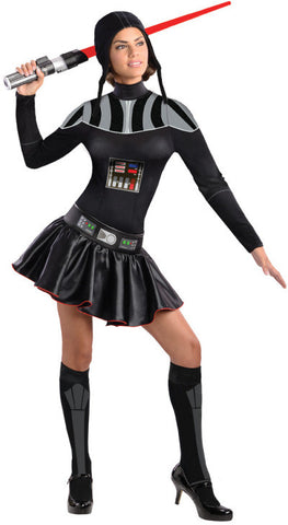 DARTH VADER FEMALE COSTUME, ADULT - SIZE M