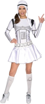 STORMTROOPER WOMENS DRESS, ADULT - SIZE S