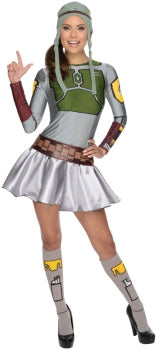 BOBA FETT WOMENS DRESS, ADULT - SIZE S