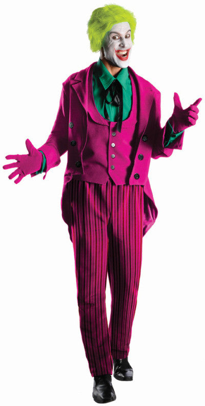JOKER 1966 COLLECTOR'S EDITION COSTUME, ADULT - SIZE XL