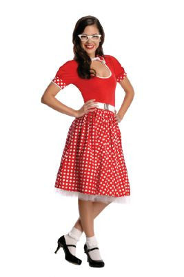 50'S NERD GIRL COSTUME, ADULT - SIZE L