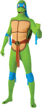 TMNT LEONARDO 2ND SKIN SUIT, ADULT - SIZE L