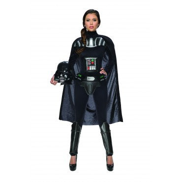 DARTH VADER FEMALE JUMPSUIT COSTUME, ADULT - SIZE S