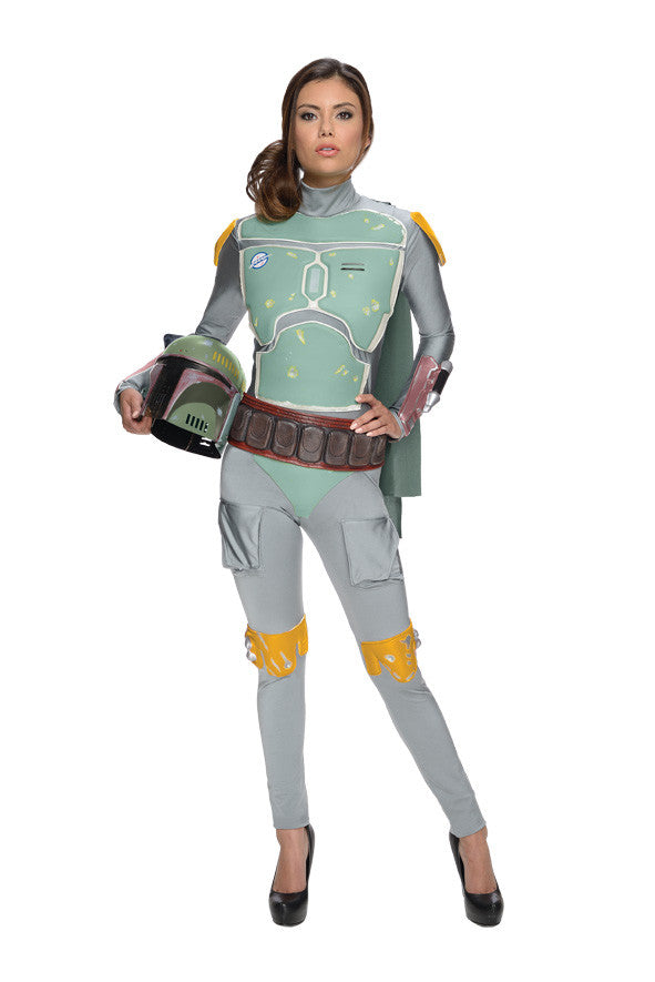 BOBA FETT FEMALE COSTUME, ADULT - SIZE L