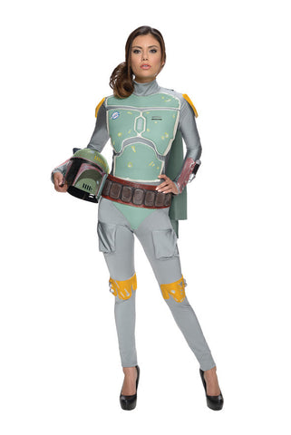 BOBA FETT FEMALE COSTUME, ADULT - SIZE S