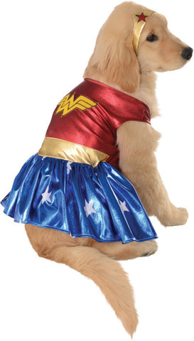 WONDER WOMAN PET COSTUME - SIZE S