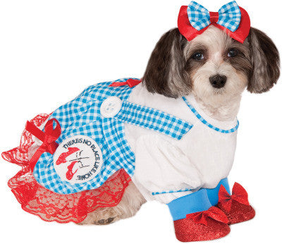 DOROTHY WIZARD OF OZ PET COSTUME- SIZE XL