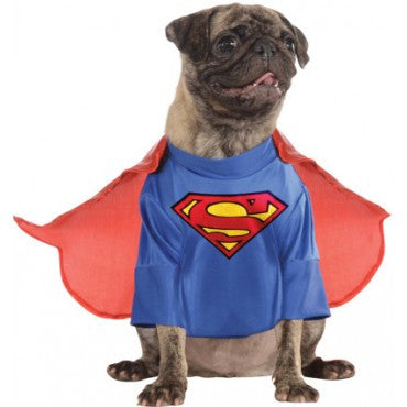 SUPERMAN DELUXE PET COSTUME- SIZE S