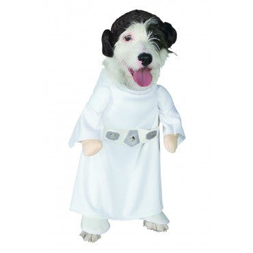 PRINCESS LEIA PET COSTUME - SIZE S