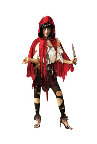 LITTLE DEAD RIDING HOOD COSTUME, ADULT - SIZE XS