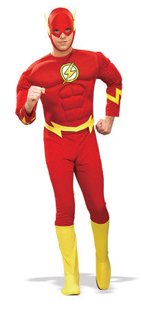 THE FLASH MUSCLE CHEST COSTUME, ADULT - SIZE S