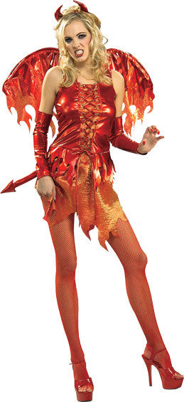 DEVIL ON FIRE SECRET WISHES COSTUME, ADULT - SIZE S