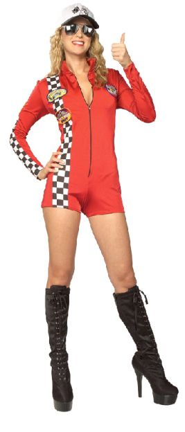 RED RACER SECRET WISHES ROMPER, ADULT - SIZE S