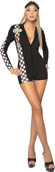 SEXY RACING CAR DRIVER COSTUME, ADULT - SIZE S
