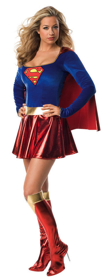SUPERGIRL SEXY SUPERHERO COSTUME, ADULT - SIZE S