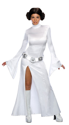 PRINCESS LEIA FITTED COSTUME, ADULT - SIZE S