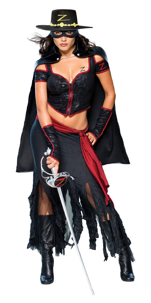 ZORRO COSTUME FOR WOMEN, ADULT - SIZE M