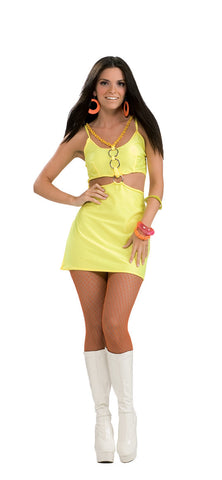 HOLLY GO BRIGHTLY 60S GO-GO COSTUME, ADULT - SIZE S