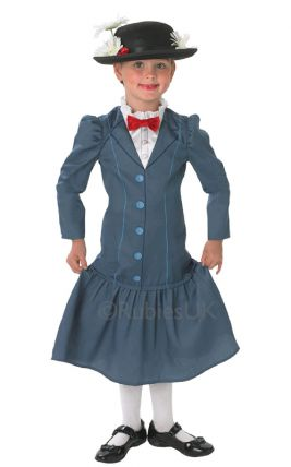 MARY POPPINS DELUXE COSTUME, CHILD - SIZE M (5-6 YEARS OLD)