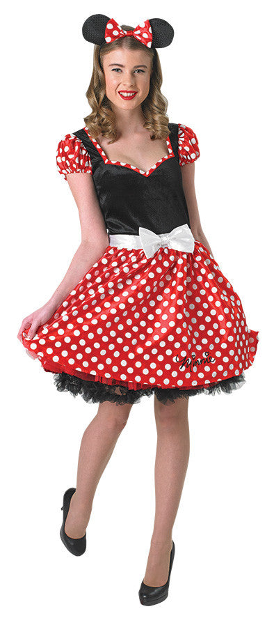 MINNIE MOUSE SASSY COSTUME, ADULT - SIZE M