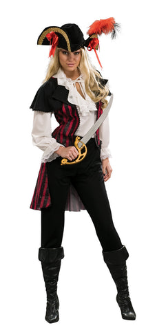 PIRATE MARIA LA FAY COSTUME, ADULT - SIZE STD