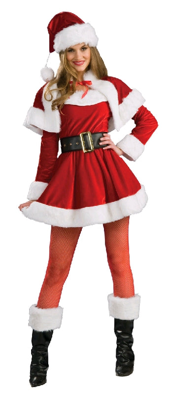 LADY SANTA COSTUME, ADULT - SIZE S