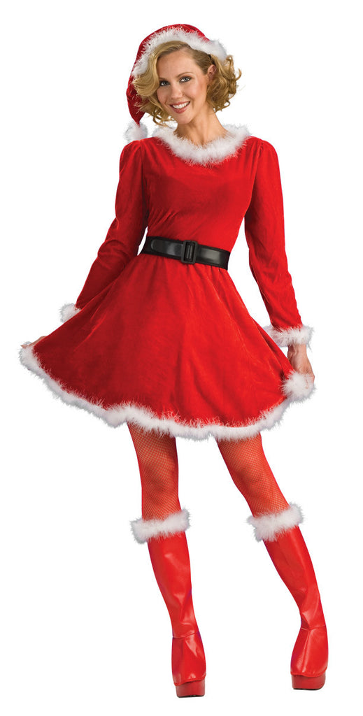 MRS CLAUS CHRISTMAS COSTUME, ADULT - SIZE S