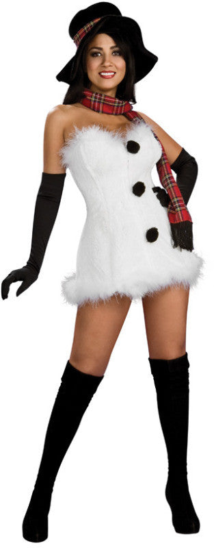 MISS FROSTBITE CHRISTMAS COSTUME, ADULT - SIZE S