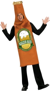 BEER BOTTLE COSTUME, ADULT - SIZE STD