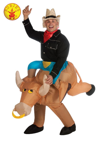 BULL RODEO INFLATABLE COSTUME, ADULT