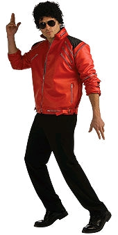 MICHAEL JACKSON BEAT IT DELUXE RED ZIPPER JACKET, ADULT - SIZE S