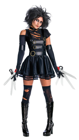 EDWARD SCISSORHANDS SEXY COSTUME, ADULT - SIZE M