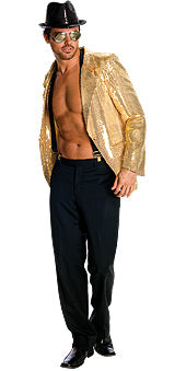 SEQUIN JACKET MENS GOLD - SIZE XL