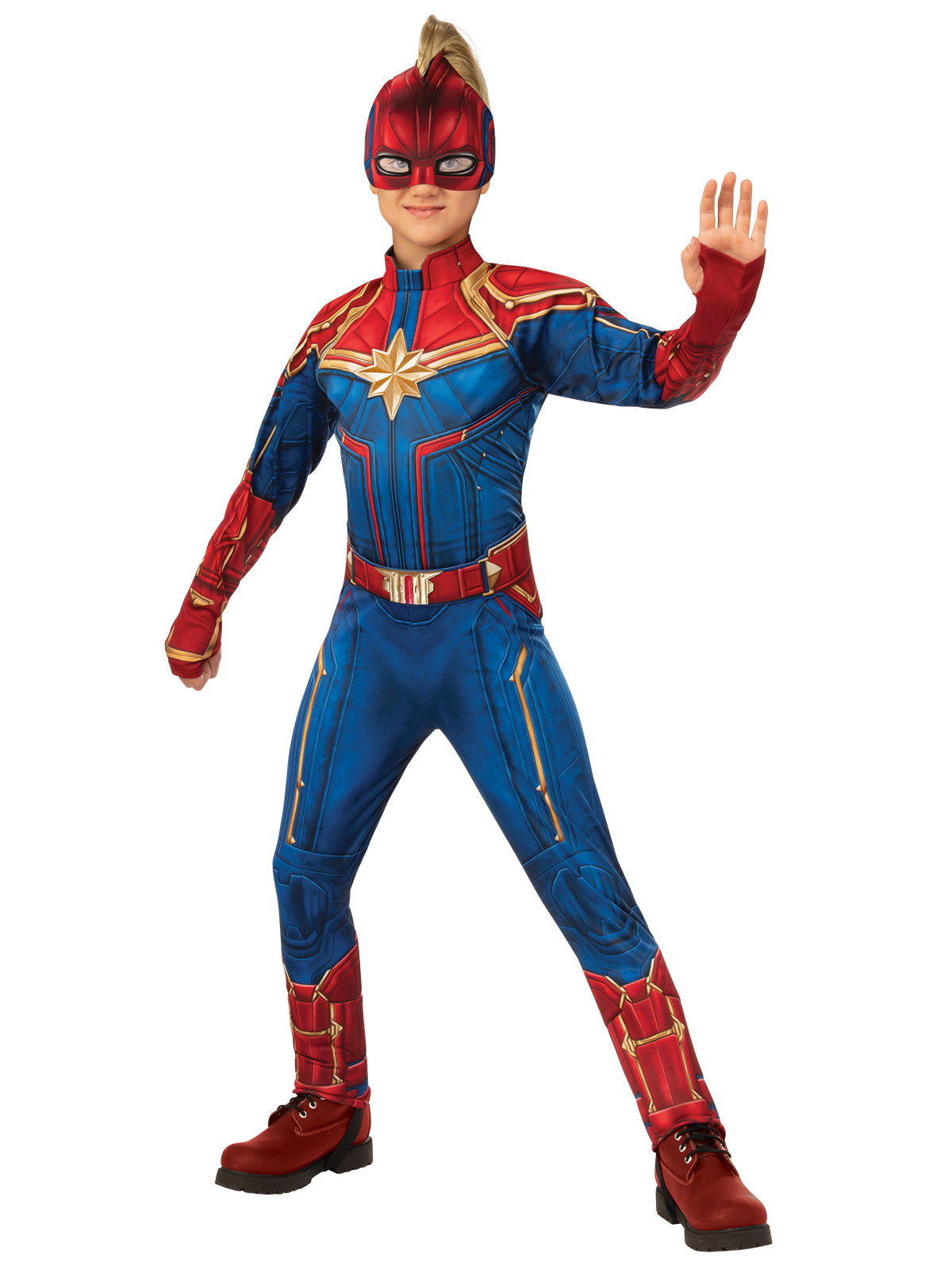 CAPTAIN MARVEL SUPERHERO COSTUME, CHILD - SIZE 6-8