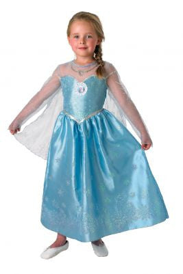 ELSA DELUXE SHIMMERING COSTUME, CHILD - SIZE 6-8