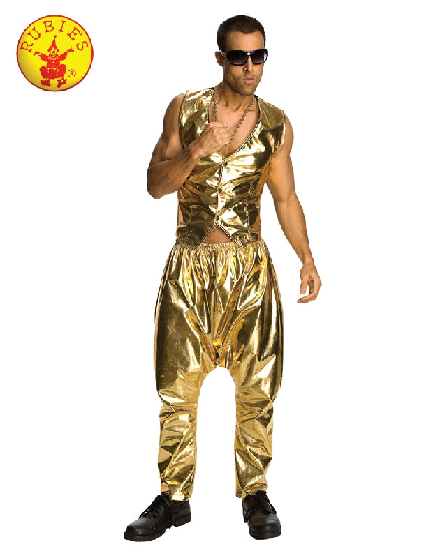 GOLD MC HAMMER 90'S PANTS, ADULT - SIZE STD