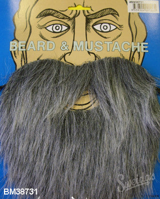 Beard & Moustache - Grey