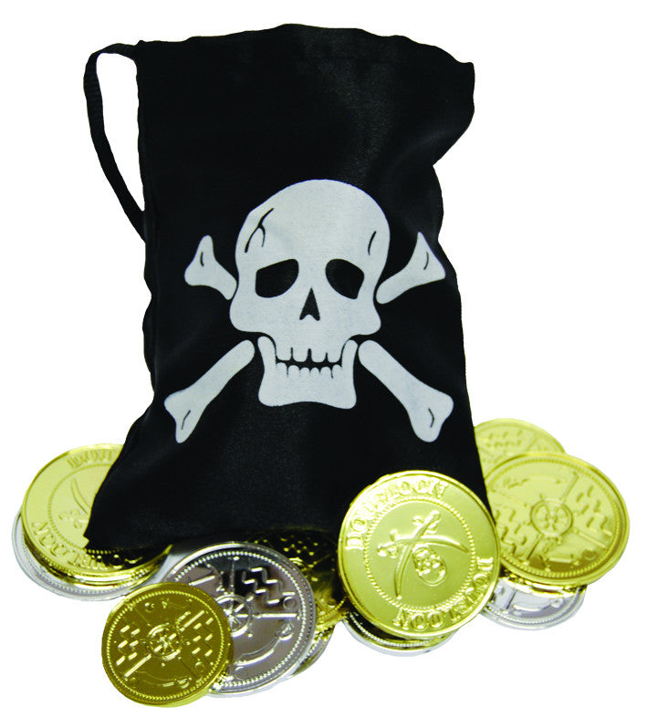 Pirate Coins & Treasure Pouch (12 Coins)