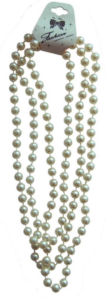 White Pearl Flapper Beads