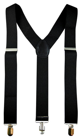 Stretch Braces/Suspenders - Black