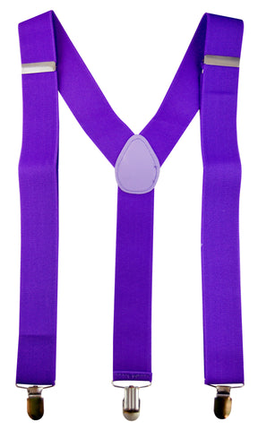 Stretch Braces/Suspenders - Neon Purple